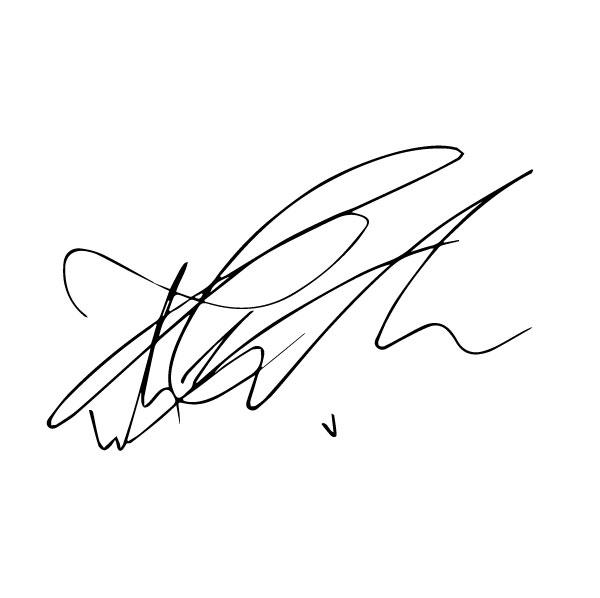 Автограф Тэхена